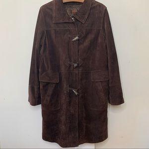 Vintage Danier 90s suede long jacket w / pockets